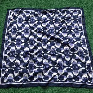 27 x 27 coach blue silk scarf